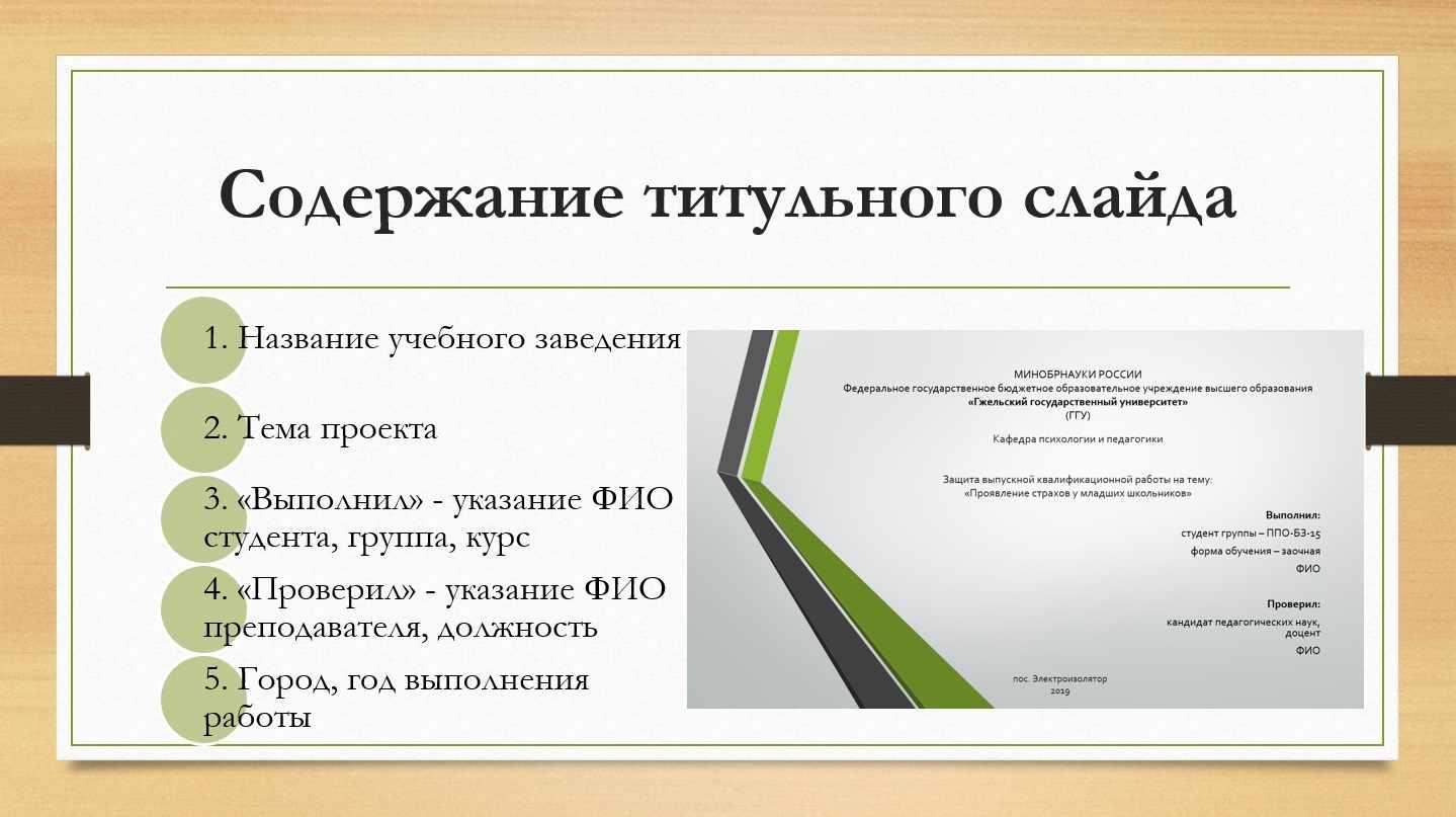 Содержание первого слайда